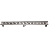 36'' W Mamore River in Brazil Series Linear Stainless Steel Shower Drain in Polished Satin Finish, 36'' W x 3'' D x 3-1/8'' H
