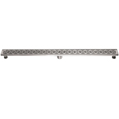 47'' W Mamore River in Brazil Series Linear Stainless Steel Shower Drain in Polished Satin Finish, 47'' W x 3'' D x 3-1/8'' H