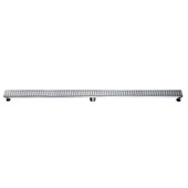 59'' Mississippi River Series Linear Shower Drain in Polished Satin Finish, 59'' W x 3'' D x 3-1/8'' H