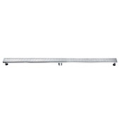 59'' Nile River Series Linear Shower Drain in Polished Satin Finish, 59'' W x 3'' D x 3-1/8'' H