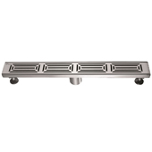 24'' W Parana River in Argentina Series Linear Stainless Steel Shower Drain in Polished Satin Finish, 24'' W x 3'' D x 3-1/8'' H