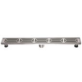 32'' W Parana River in Argentina Series Linear Stainless Steel Shower Drain in Polished Satin Finish, 32'' W x 3'' D x 3-1/8'' H