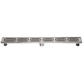 36'' W Parana River in Argentina Series Linear Stainless Steel Shower Drain in Polished Satin Finish, 36'' W x 3'' D x 3-1/8'' H