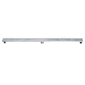 59'' Rhone River Series Linear Shower Drain in Polished Satin Finish, 59'' W x 3'' D x 3-1/8'' H