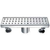 12''W Thames River Series - Linear Shower Drain in Polished Satin