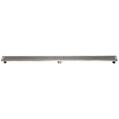 47'' W Views Along the River Nile Series Linear Stainless Steel Shower Drain in Polished Satin Finish, 47'' W x 3'' D x 3-1/8'' H