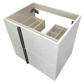 23-3/8'' Wide Particle Board Cabinet w/ 2 Drawers, White Finish, 23-3/8''W x 17-3/8''D x 22-1/4''H