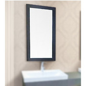 18'' Wide Vanity Mirrors, Matte Black Finish