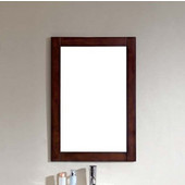 Dawn Traditional Solidwood And Plywood Frame Mirror In Brown Black Finish