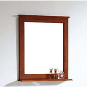 Dawn Traditional Solidwood And Plywood Frame Teak Finish Mirror With Shelf