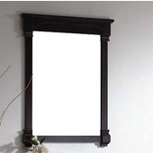 Dawn Traditional Solidwood And Plywood Frame Bathroom Mirror In Walnut Finish