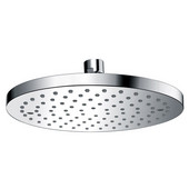 8-1/8''Diameter x 2-1/2''Depth, Single Function 8'' Round Rain Shower Head, Chrome Finish