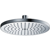 10''Diameter x 2-7/32''Depth, Single Function 10'' Round Rain Shower Head, Chrome Finish