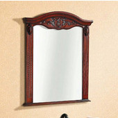 Dawn Traditional Solidwood And Plywood Frame Mirror In Reddish Brown Finish