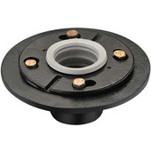6-5/8'' Diameter Shower Drain in Polished Satin Base, Made of Brass