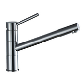 Dawn Sinks York Pull-Out Spray Sink Faucet, Brushed Nickel