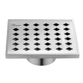 5-3/32''W Mississippi River Series - Square Shower Drain in Polished Satin