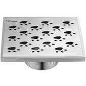 5-3/32''W Memuru River Series - Square Shower Drain in Polished Satin