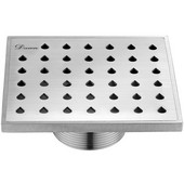5-3/32''W Nile River Series - Square Shower Drain in Polished Satin