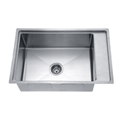 27'' Undermount Single Bowl 18 Gauge Stainless Steel Kitchen Sink in Polished Satin Finish, 26-5/8'' W x 19-3/16'' D x 10'' H