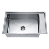 30'' Undermount Single Bowl 18 Gauge Stainless Steel Kitchen Sink in Polished Satin Finish, 29-5/8'' W x 19-3/16'' D x 10'' H