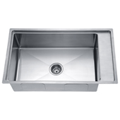 33'' Undermount Single Bowl 18 Gauge Stainless Steel Kitchen Sink in Polished Satin Finish, 33-1/8'' W x 19-3/16'' D x 10'' H