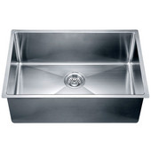 26-1/2''W x 18''D x 10''H, Undermount Small Corner Radius Single Bowl Sink in Polished Satin Finish