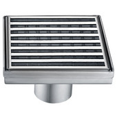 5-3/32''W Wheaton River Series - Square Shower Drain in Polished Satin
