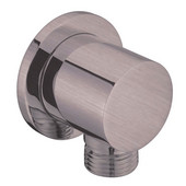 Wall Mount Supply Elbow (Round), Brushed Nickel