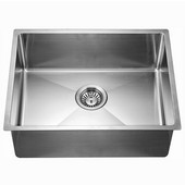 ® Kitchen Stainless Steel Undermount Extra Small Corner Radius Rectangle Single Bowl in Polished Satin Finish, 21-7/8''W x 17-3/16''D x 8-11/16''H