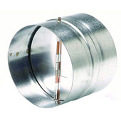 S&P CAR Galvanized Steel Backdraft Dampers, 4'' - 12-2/5'' Sizes Available