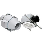 S&P TD100 Standard Exhaust Kit (Single Vent), 4'' Duct w/ 9-1/8'' or 11-15/16''W Fan