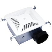 S&P Premium Choice 6'' Ceiling Mounted Bathroom Fan with DC Motor, Built-In Motion and Humidity Sensor, 90 - 140 CFM