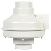 S&P 4'' Inline Radon Mitigation Fan, Fully Sealed, 169CFM, 120V/60Hz, 92W, 3080 RPM