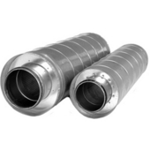 S&P Galvanized Steel In-Line Duct Silencer, 8'' - 12-2/5'' Sizes Available