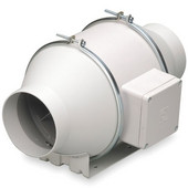 Sp inline mixed flow exhaust fan available in a variety for Remote inline bathroom fans