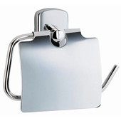 Cabin Polished Chrome Toilet Roll Holder with Lid European Style 1¾''