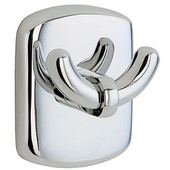Cabin Polished Chrome Double Towel Hook 2-1/2'' H