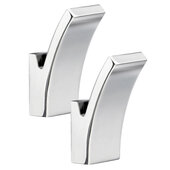 Dry Collection Polished Chrome Towel Hook, Sold as Pair, 1-1/2'' W x 1-3/4'' D x 2-3/4'' H