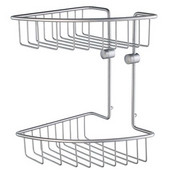 Home Line Brushed Chrome Double Tier Soap Basket