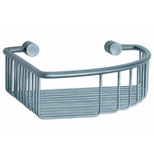 Studio Brushed Chrome Corner Soap Basket