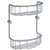 Studio Brushed Chrome Double Soap Basket