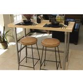 Maple Top Table, w/ Rear Bar, 60'' W x 24'' D x 35'' H