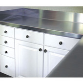 2'' Thick Stainless Steel Countertop with 5'' Backsplash, Available in Multiple Widths & Depths