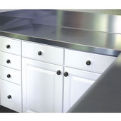 2'' Thick Stainless Steel Countertop with 10'' Backsplash, Available in Multiple Widths & Depths