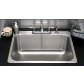 23''W x 21''D x 7-1/2''H Single Bowl Drop-In Kitchen Sink