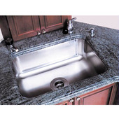 20''W x 20''D x 12''H Single Bowl Sink for Undermount Installation