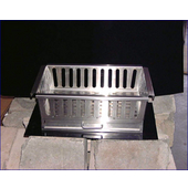 18'' W Fireplace Grate with Slide-out Ashtray, Stainless Steel
