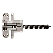 ® Invisible Spring Closer Hinge, Zinc Bodies, Steel Links, Chrome Vandium Spring, Satin Nickel Finish