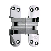 ® Invisible Hinge, UL Fire Rated Hinge for Wood or Metal, 316 Stainless Steel Material, Bright Stainless Steel Finish